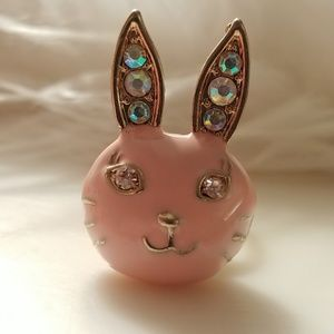 Anna Sui Pink Bunny Rabbit Ring Adjustable Size